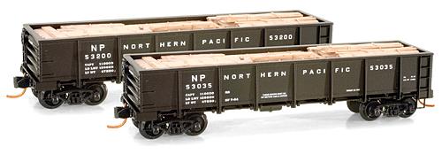 N Scale - Micro-Trains - 083 00 041 - Gondola, 40 Foot, Steel, Drop Bottom - Northern Pacific - 53035