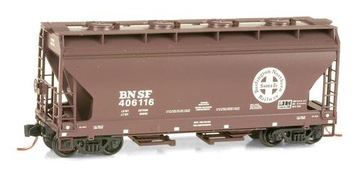 N Scale - Micro-Trains - 092 50 190 - Covered Hopper, 2-Bay, ACF Centerflow - Burlington Northern Santa Fe - 406116