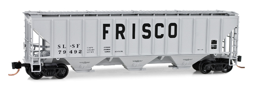 N Scale - Micro-Trains - 096 00 110 - Covered Hopper, 3-Bay, PS-2 - Frisco - 79492