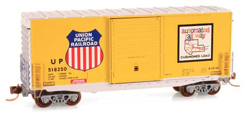 N Scale - Micro-Trains - 101 00 040 - Boxcar, 40 Foot, Hi-Cube - Union Pacific - 518250