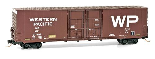 N Scale - Micro-Trains - 102 00 050 - Boxcar, 60 Foot, Gunderson, Hi-Cube - Western Pacific - 3766
