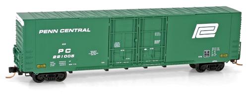 N Scale - Micro-Trains - 102 00 090 - Boxcar, 60 Foot, Gunderson, Hi-Cube - Penn Central - 221005