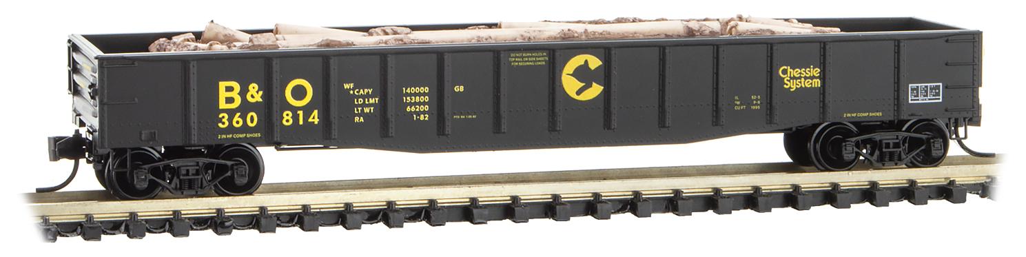N Scale - Micro-Trains - 105 00 537 - Gondola, 50 Foot, Steel - CSX Transportation - 704786