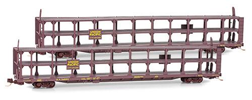 N Scale - Micro-Trains - 112 00 072 - Autorack, Open, F89F Tri-Level - Union Pacific - 54057