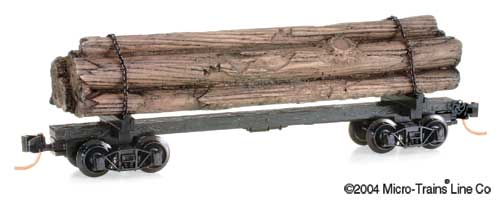 N Scale - Micro-Trains - 113040 - Log Car, Skeleton - Painted/Unlettered