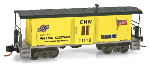 N Scale - Micro-Trains - 130 00 030 - Caboose, Bay Window - Chicago & North Western - 11119