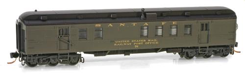 N Scale - Micro-Trains - 140 00 040 - Passenger Car, Heavyweight, Pullman RPO - Santa Fe - 76