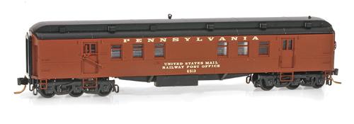 N Scale - Micro-Trains - 140 00 050 - Passenger Car, Heavyweight, Pullman RPO - Pennsylvania