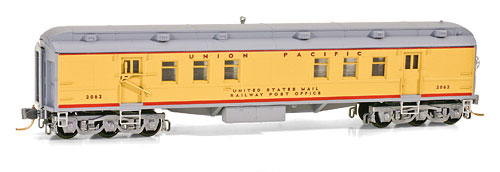 N Scale - Micro-Trains - 140 00 060 - Passenger Car, Heavyweight, Pullman RPO - Union Pacific - 2062
