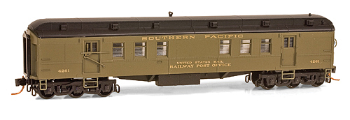 N Scale - Micro-Trains - 140 00 070 - Passenger Car, Heavyweight, Pullman RPO - Southern Pacific - 4261