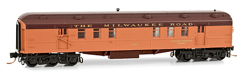 N Scale - Micro-Trains - 140 00 120 - Passenger Car, Heavyweight, Pullman RPO - Milwaukee Road - 853