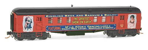 N Scale - Micro-Trains - 140 00 200 - Passenger Car, Heavyweight, Pullman RPO - Ringling Bros. and Barnum & Bailey - 208