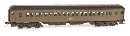 N Scale - Micro-Trains - 145 00 030 - Passenger Car, Heavyweight, Pullman, Paired Window Coach - Burlington Route - 6113