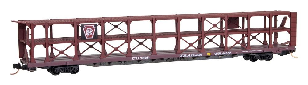 N Scale - Micro-Trains - 112 00 030 - Autorack, Open, F89F Tri-Level - Pennsylvania - 901494