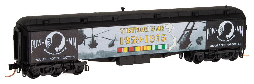 N Scale - Micro-Trains - 140 00 710 - Passenger Car, Heavyweight, Pullman RPO - Vietnam War - 1959-1975