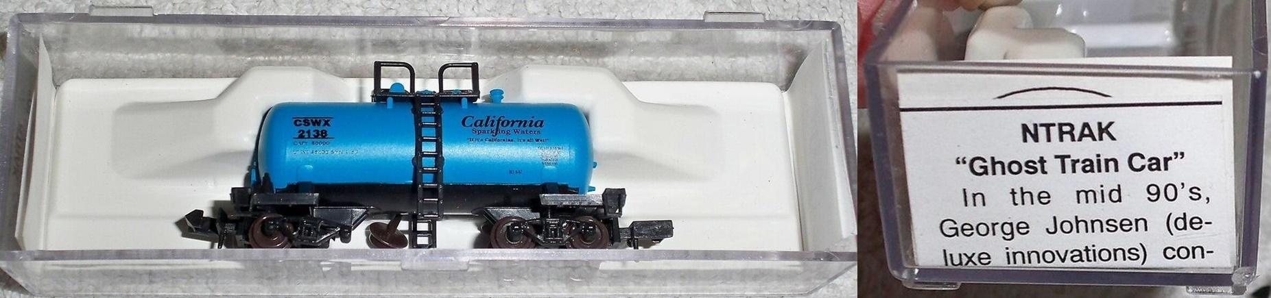 N Scale - Atlas - ATLSRU1 - Tank Car, 29 Foot, Beer Can Shorty - California Sparkling Water - 2138