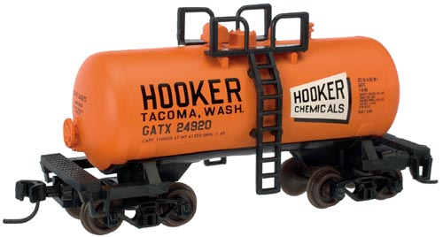 N Scale - Atlas - 31410A - Tank Car, Single Dome, Shorty - Hooker Chemical - 24934