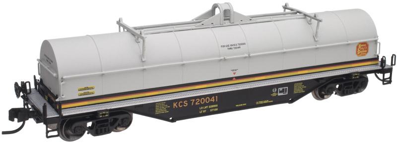 N Scale - Atlas - 50 001 524 - Gondola, Steel Coil, Greenbrier 42 Foot - Kansas City Southern - 720041