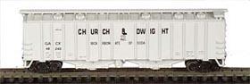 N Scale - Bowser - 37006 - Covered Hopper, 2-Bay, GATX Airslide 4180 - Church & Dwight - 48274