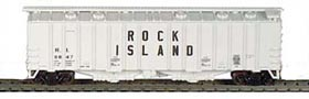N Scale - Bowser - 37020 - Covered Hopper, 2-Bay, GATX Airslide 4180 - Rock Island - 8847
