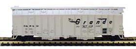 N Scale - Bowser - 37023 - Covered Hopper, 2-Bay, GATX Airslide 4180 - Rio Grande - 15945