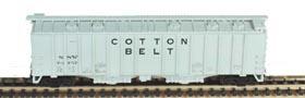 N Scale - Bowser - 37038 - Covered Hopper, 2-Bay, GATX Airslide 4180 - Cotton Belt - 79752