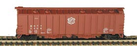 N Scale - Bowser - 37039 - Covered Hopper, 2-Bay, GATX Airslide 4180 - Missouri-Kansas-Texas - 1207