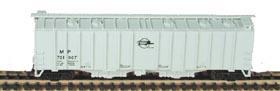 N Scale - Bowser - 37042 - Covered Hopper, 2-Bay, GATX Airslide 4180 - Missouri Pacific - 721002