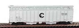 N Scale - Bowser - 37033 - Covered Hopper, 2-Bay, GATX Airslide 4180 - Chessie System - 619022