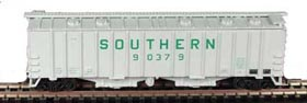 N Scale - Bowser - 37025 - Covered Hopper, 2-Bay, GATX Airslide 4180 - Southern - 90372