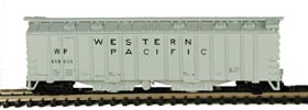 N Scale - Bowser - 37030 - Covered Hopper, 2-Bay, GATX Airslide 4180 - Western Pacific - 11699
