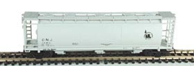 N Scale - Bowser - 37303 - Covered Hopper, 3-Bay, Cylindrical - Jersey Central - 1083