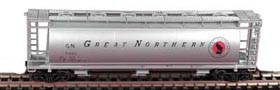 N Scale - Bowser - 37279 - Covered Hopper, 3-Bay, Cylindrical - Great Northern - 71594