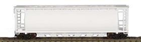 N Scale - Bowser - 37300 - Covered Hopper, 3-Bay, Cylindrical - Undecorated