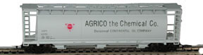 N Scale - Bowser - 37261 - Covered Hopper, 3-Bay, Cylindrical - AGRICO Chemical Co - 62102