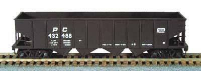 N Scale - Bowser - 37777 - Open Hopper, 4-Bay Steel H21a - Penn Central - 432801