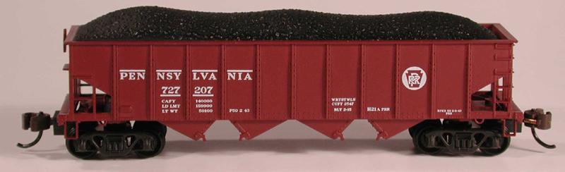N Scale - Bowser - 37401 - Open Hopper, 4-Bay Steel H21a - Pennsylvania - 185222