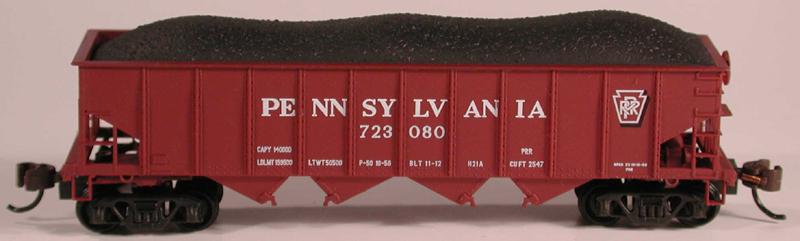 N Scale - Bowser - 37403 - Open Hopper, 4-Bay Steel H21a - Pennsylvania - 677032