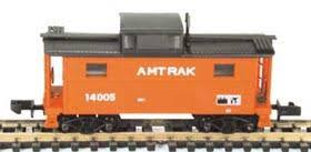 N Scale - Bowser - 37107 - Caboose, Cupola, Steel, NE - Amtrak - 14005