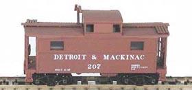 N Scale - Bowser - 37112 - Caboose, Cupola, Steel, NE - Detroit & Mackinac - 207