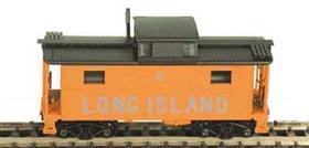 N Scale - Bowser - 37113 - Caboose, Cupola, Steel, NE - Long Island Rail Road - 2
