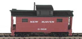 N Scale - Bowser - 37106 - Caboose, Cupola, Steel, NE - New Haven - 520