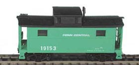 N Scale - Bowser - 37105 - Caboose, Cupola, Steel, N5/N5C - Penn Central - 19155