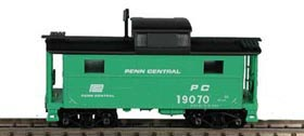 N Scale - Bowser - 37122 - Caboose, Cupola, Steel, NE - Penn Central