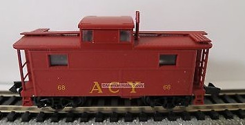 N Scale - Bowser - 37201 - Caboose, Cupola, Steel, NE - Akron Canton & Youngstown - 68
