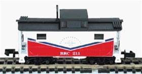 N Scale - Bowser - 37206 - Caboose, Cupola, Steel, NE - Belt Railway of Chicago - 202