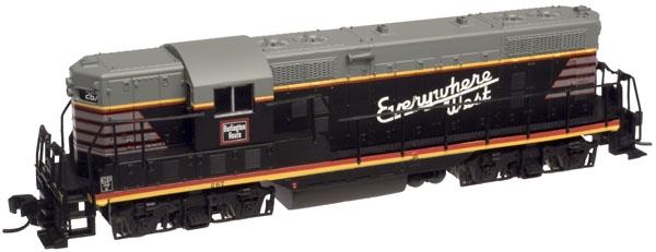 N Scale - Atlas - 48273 - Locomotive, Diesel, EMD GP7 - Burlington Route - 267