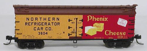 N Scale - Atlas - 41449 - Reefer, Ice, Wood - Phenix Cheese - 3604