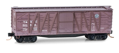N Scale - Micro-Trains - 028 53 030 - Boxcar, 40 Foot, Wood Sheathed, Outside Braced - Southern Pacific - 52156