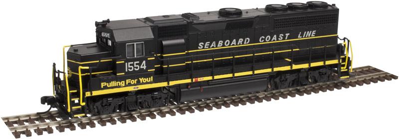 N Scale - Atlas - 40 002 769 - Locomotive, Diesel, EMD GP40 - Seaboard Coast Line - 1545